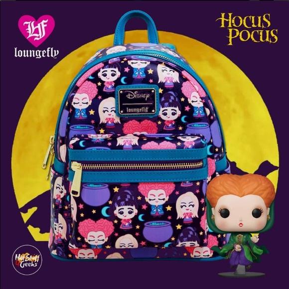 🎃💜Disney Loungefly Hocus Pocus Chibi Backpack